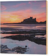 Bamburgh Castle Bam0032 Wood Print