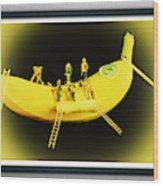 Banana Boat Mining Company Black Frame Wood Print