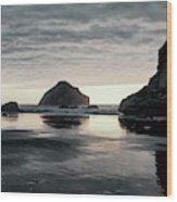 Bandon Beach Sunset 1 Wood Print