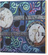Banjos Wood Print