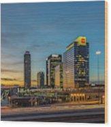 Banking Giants Too Atlanta Midtown Sunset Atlanta Georgia Art Wood Print