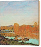 Banks Of The Seine Near Bougival - Digital Remastered Edition Wood Print