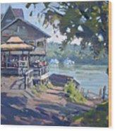 Bar At Lewiston Wood Print