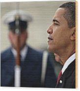 Barack Obama Is Sworn In As 44th Wood Print