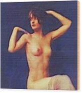 Barbara Stanwyck, Vintage Movie Star Nude Wood Print