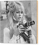 Bardot During Viva Maria Shoot Wood Print