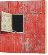 Barn Door Open Wood Print