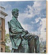 Bascom Hall Lincoln Statue Wood Print