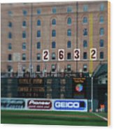 Baseball - Cal Ripken Hall Of Fame Wood Print