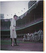 Baseball Great Babe Ruth, In Uniform Wood Print