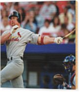 Baseball - Mark Mcgwire Wood Print