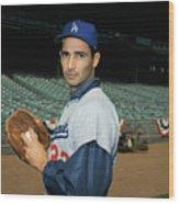 Baseball Player Sandy Koufax Wood Print
