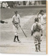 Baseball Star Joe Dimaggio Wood Print