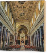 Basilica Di San Crisogono Wood Print