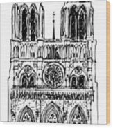 Basilica Notre Dame Wood Print