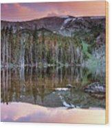 Basin Lake Sunset Wood Print