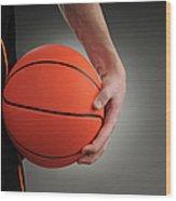 Basketball Player Wood Print