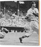 Batter Stan Musial And Catcher Wes Wood Print