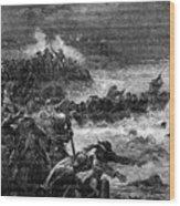Battle Of Quiberon, 1898. Artist Barbant Wood Print