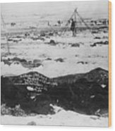 Battlefield At Wounded Knee 1890 Wood Print