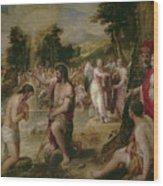 Bautismo De Cristo   Wood Print