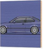 Bavarian E36 3-series M-drei Coupe Techno Violet Wood Print