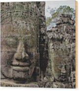 Bayon Faces, Angkor Wat, Cambodia Wood Print