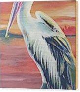 Bayou Pelican / Modern Ibis Wood Print