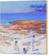 Beach At Cabasson - Digital Remastered Edition Wood Print