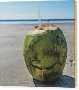 Beach Coconut Wood Print