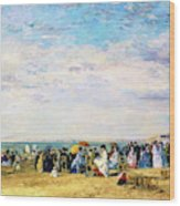 Beach Of Trouville - Digital Remastered Edition Wood Print