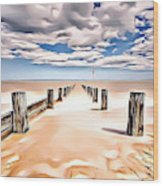 Beach Perpective Wood Print