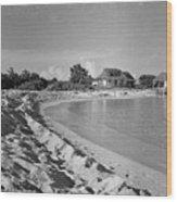 Beach Sand Cove Wood Print