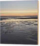 Beach Sunset, Blackpool, Uk 09/2017 Wood Print