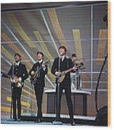 Beatles On Us Tv Wood Print