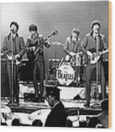 Beatles Perform In Washington, D.c Wood Print