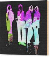 Beatles Watercolor II Wood Print