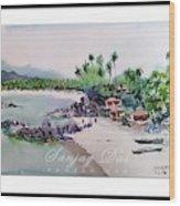 Beautiful Beach In Goa India Wood Print