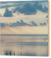 Beautiful Clouds Over Pamlico Sound Wood Print