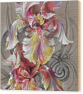 Beautiful Fantastic Realistic Flowers Wood Print