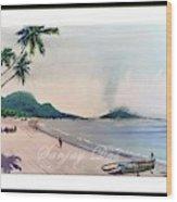 Beautiful Goa Beach Wood Print