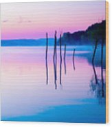 Beautiful Landscape With A Lake And Wood Print