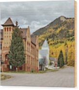 Beautiful Small Town Rico Colorado Wood Print