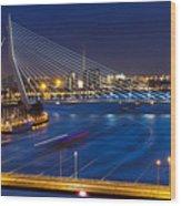 Beautiful Twilight View On The Bridges Wood Print
