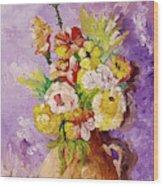 Beauty On Bouquet Wood Print