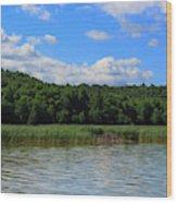 Beaver Lodge On Southern Lake Champlain New York Wood Print
