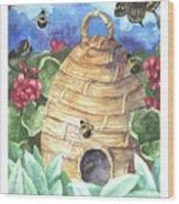 Beehive Welcome Wood Print