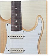 Beige Wood Textured Electric Guitar Wood Print