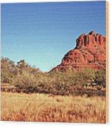 Bell Rock, South Of Sedona, Arizona Wood Print