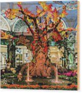 Bellagio Conservatory Enchanted Talking Tree Ultra Wide 2018 2.5 To 1 Aspect Ratio Wood Print